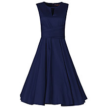 Buy Jolie Moi Keyhole Neckline 50s Dress, Navy Online at johnlewis.com