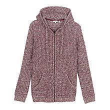 Buy Fat Face Alice Textured Hoody, Elderberry Online at johnlewis.com
