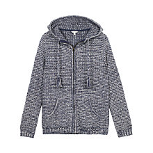 Buy Fat Face Alice Textured Hoodie, Navy Online at johnlewis.com