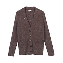 Buy Fat Face Banbury Boyfriend Cardigan, Chocolate Online at johnlewis.com
