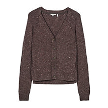 Buy Fat Face Kittle Cardigan, Chocolate Online at johnlewis.com