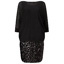 Buy Phase Eight Geonna Sequin Skirt Dress, Black Online at johnlewis.com