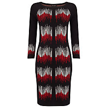 Buy Phase Eight Zarah Zig Zag Dress, Black/Red Online at johnlewis.com