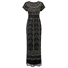 Buy Phase Eight Collection 8 Cleo Embellished Dress, Black/Silver Online at johnlewis.com