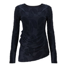 Buy Phase Eight Feather Jacquard Top, Navy Online at johnlewis.com