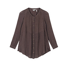Buy Fat Face Evie Seed Ditsy Longline Top, Chocolate Online at johnlewis.com