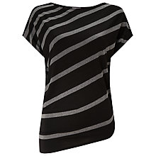 Buy Phase Eight Amy Asymmetric Stripe Top, Black/Grey Online at johnlewis.com