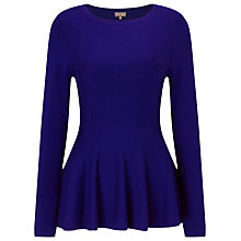 Buy Phase Eight Maritza Peplum Top, Cobalt Online at johnlewis.com