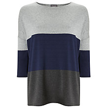 Buy Phase Eight Connie Colour Block Top, Navy/Grey Online at johnlewis.com