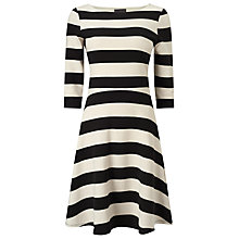 Buy Phase Eight Ottoman Stripe Dress, Black/Ivory Online at johnlewis.com