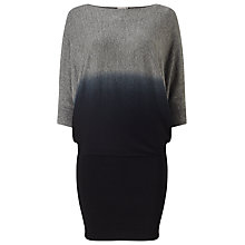 Buy Phase Eight Dip Dye Becca Batwing Dress, Black Online at johnlewis.com