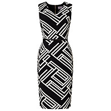 Buy Phase Eight Caroline Structured Stripe Dress, Black/Ivory Online at johnlewis.com