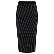 Buy Mint Velvet Pinstripe Pencil Skirt, Multi Online at johnlewis.com