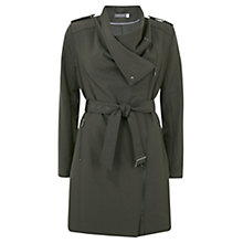 Buy Mint Velvet Bonded Trench Coat, Green Online at johnlewis.com