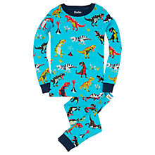Buy Hatley Children's Roaring T-Rex Pyjamas, Blue Online at johnlewis.com