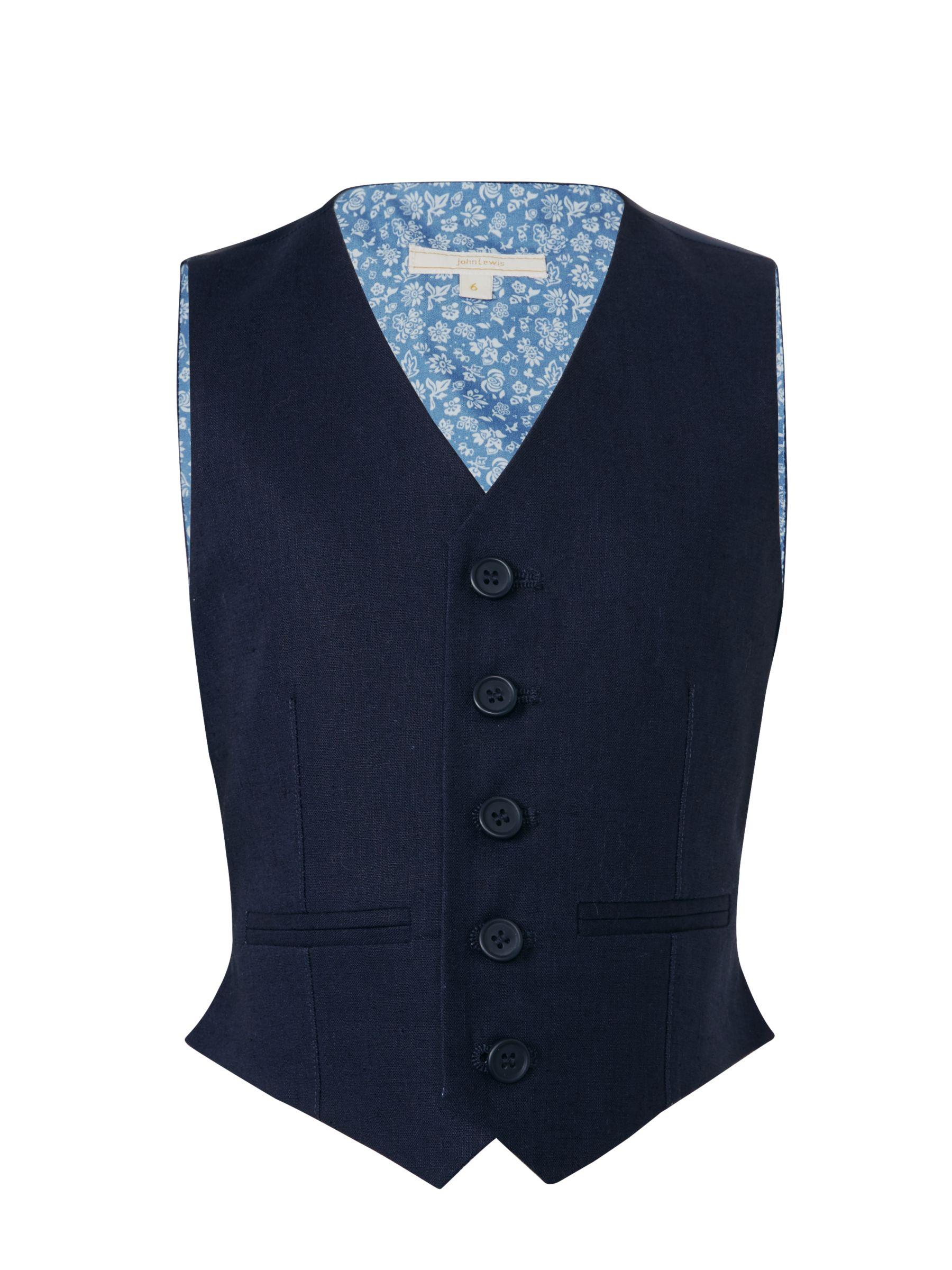 John Lewis Heirloom Collection John Lewis Heirloom Collection Boys' Linen Cotton Waistcoat