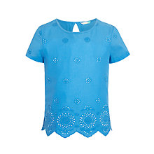 Buy John Lewis Girls' Broderie Front T-Shirt Online at johnlewis.com