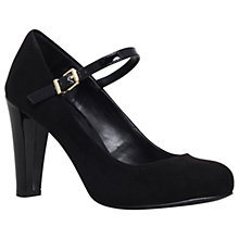Buy Carvela Atlantis Block Heeled Court Shoes, Black Online at johnlewis.com