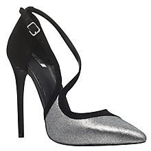 Buy Carvela Globe Occasion Asymmetric Court Shoes, Black Online at johnlewis.com