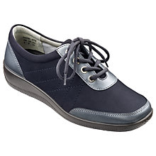 Buy Hotter Paige Lace Up Plimsolls, Navy Online at johnlewis.com