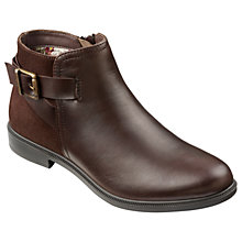 Buy Hotter Hampton Buckle Ankle Boots, Brown Online at johnlewis.com