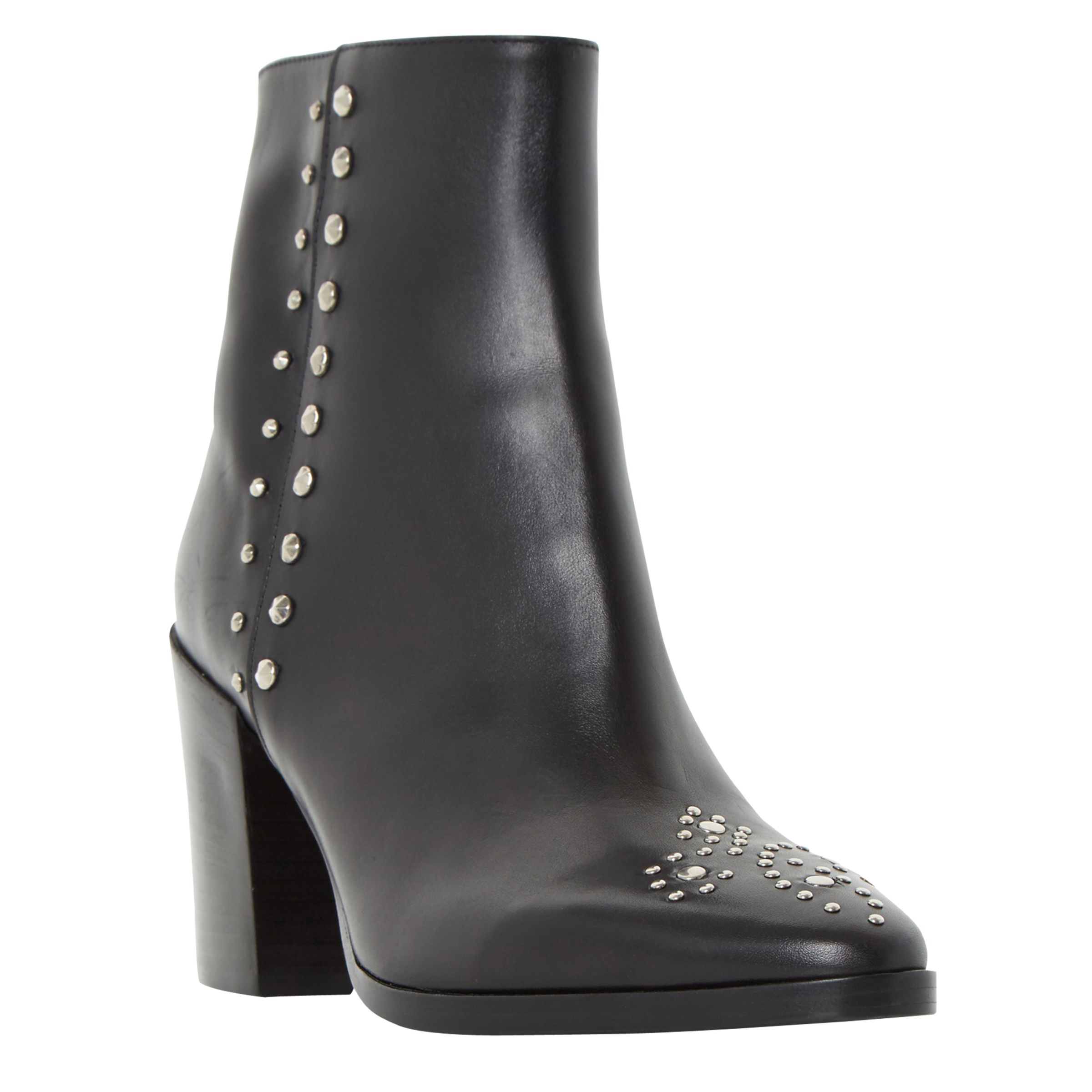 Dune Black Dune Parlow Studded Ankle Boots, Black Leather