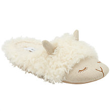 Buy John Lewis Lamb Mule Slippers, Cream Online at johnlewis.com