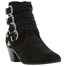 Buy Dune Black Ormond Multi Buckle Ankle Boots, Black Online at johnlewis.com
