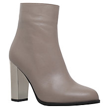 Buy Carvela Salvador Block Heeled Ankle Boots, Grey Online at johnlewis.com