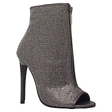 Buy Carvela Gusto Peep Toe Boot Sandals, Gunmetal Online at johnlewis.com
