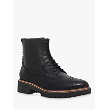 Buy Carvela Snail Lace Up Ankle Boots, Black Online at johnlewis.com
