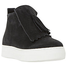 Buy Dune Black Emperor Fringed High Top Trainers, Black Online at johnlewis.com