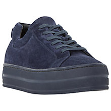 Buy Dune Black Export Flatform Trainers, Navy Online at johnlewis.com
