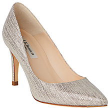 Buy L.K. Bennett Floret Pointed Court Shoes, Platinum Online at johnlewis.com