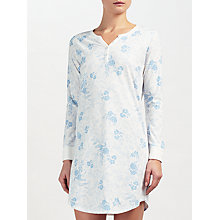 Buy John Lewis Carmen Floral Print Long Sleeved Night Dress, Ivory/Blue Online at johnlewis.com