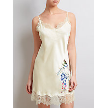 Buy Somerset by Alice Temperley Wisteria Embroidered Silk Chemise, Ivory/Multi Online at johnlewis.com