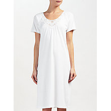 Buy John Lewis Lace Trim Short Sleeve Night Dress, White Online at johnlewis.com