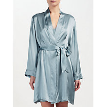 Buy John Lewis Silk Dressing Gown, Aqua Online at johnlewis.com