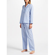Buy John Lewis Pin Spot Chambray Pyjama Set, Blue/Ivory Online at johnlewis.com