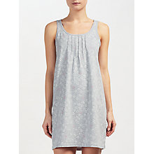 Buy John Lewis Valerie Heart Print Chemise, Grey/Ivory Online at johnlewis.com