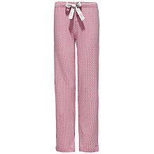 Buy Calvin Klein Intimate Geo Print Pyjama Bottoms, Pink/Grey Online at johnlewis.com