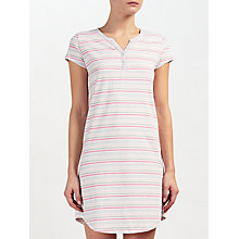 Buy John Lewis Lydia Stripe Short Sleeve Night Dress Online at johnlewis.com