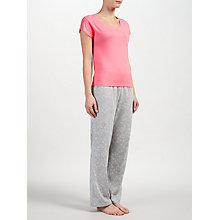Buy John Lewis Valerie Heart Print Short Sleeve Pyjama Set, Grey/Pink Online at johnlewis.com
