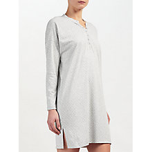 Buy John Lewis Spot Print Long Sleeved Night Shirt, Grey Online at johnlewis.com