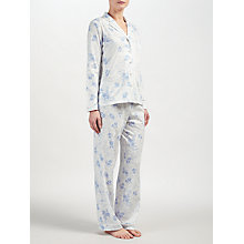Buy John Lewis Carmen Floral Print Pyjama Set, Ivory/Blue Online at johnlewis.com