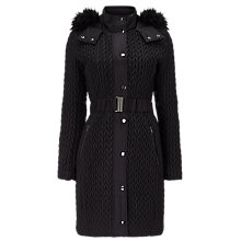 Buy Phase Eight Lucilla Puffer Coat, Black Online at johnlewis.com