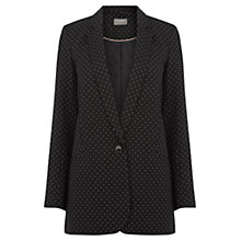 Buy Oasis Spot Longline Blazer, Multi Black Online at johnlewis.com