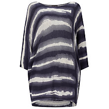 Buy Phase Eight Becca Batwing Jumper, Navy/Grey Online at johnlewis.com