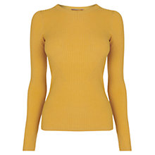 Buy Oasis Long Sleeve Ribbed Top Online at johnlewis.com