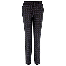 Buy Warehouse Tile Jacquard Trousers, Navy Online at johnlewis.com